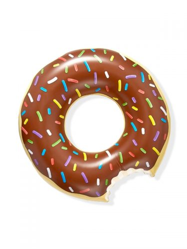 Chocolate Doughnut Pool Float